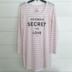 VICTORIA'S SECRET Long sleeve nightgown shirt SP